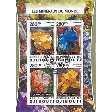 Bloc de 4 timbres Minéraux
