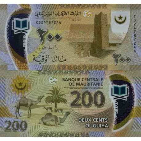 Billets de collection Billet de banque collection Mauritanie - PK N° 999 - 200 Quguiya Billets de Mauritanie 22,00 €