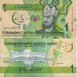 Banknote Sammlung Turkmenistan - PK Nr. 36 - 1 Manats