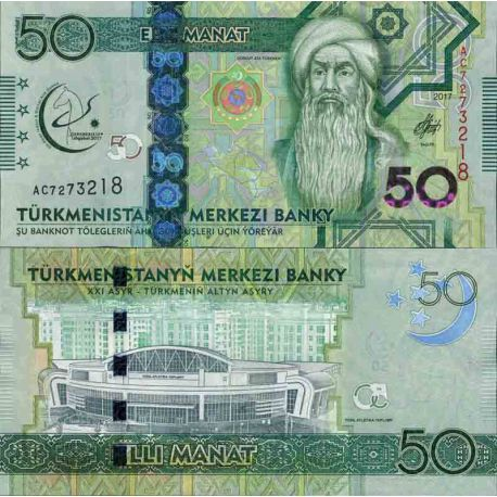 Billet de banque collection Turkmenistan - PK N° 999 - 50 Manats