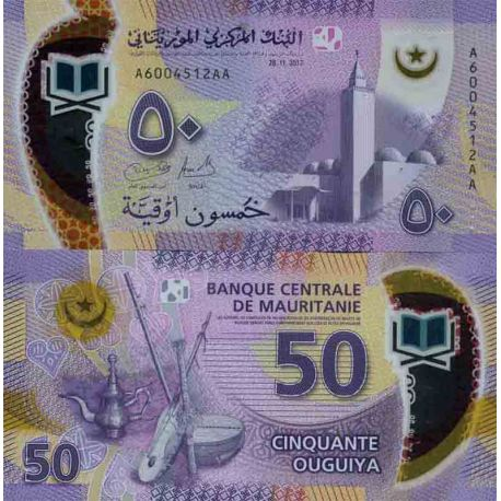 Billets de collection Billet de banque collection Mauritanie - PK N° 999 - 50 Quguiya Billets de Mauritanie 6,00 €