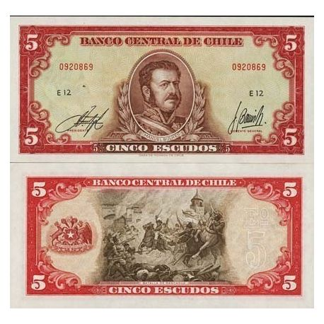 Billets collection Chili Pk N° 138 - 5 Escudos