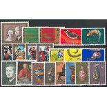 Liechtenstein Year 1974 supplements in new stamps