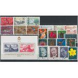 Liechtenstein Année 1972 complète en timbres neufs