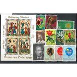 Liechtenstein Jahr 1970 vervollständigt in neuen Briefmarken