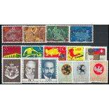 Liechtenstein Année 1969 complète en timbres neufs