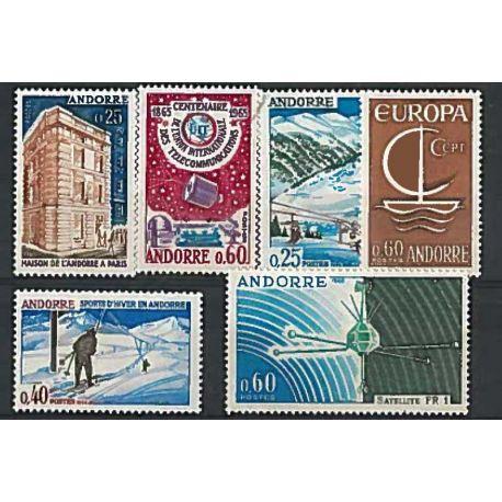 Stempel französisches Andorra 1965/66 in vollständigem Jahr