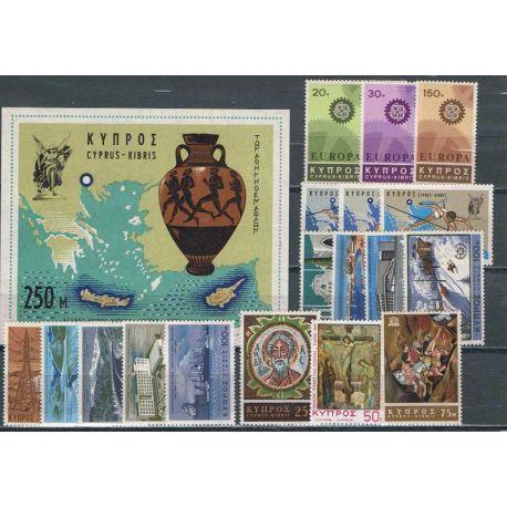 Nuevos sellos Chipre 1967 en Año Completo