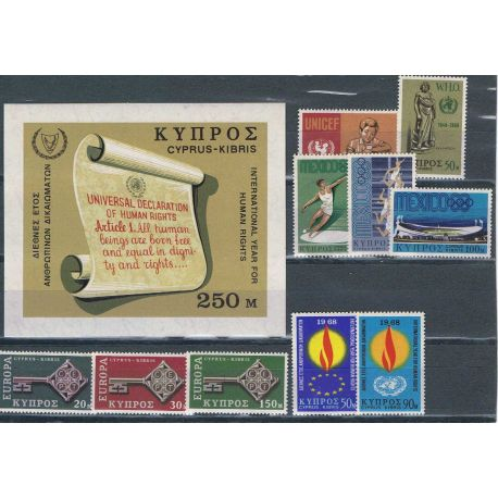 Zypern 1968 in vollständigem Jahr neue Stempel