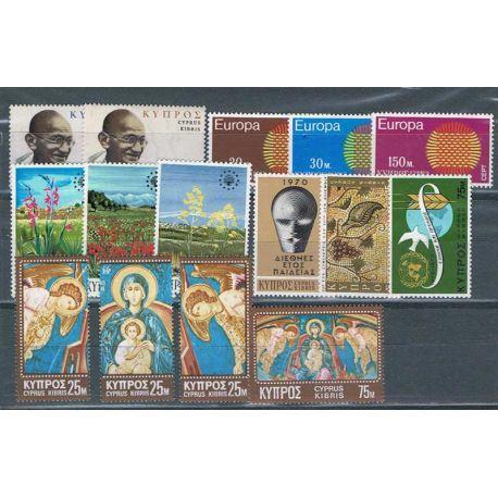 Francobolli nuovi Cipro 1970 in anno completo