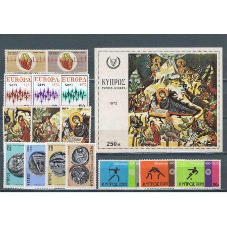 Francobolli nuovi Cipro 1972 in anno completo