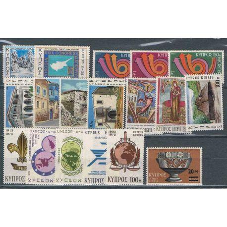 Nuevos sellos Chipre 1973 en Año Completo