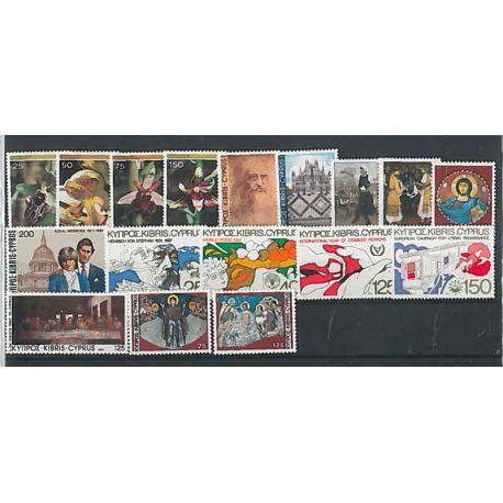 Nuevos sellos Chipre 1981 en Año Completo