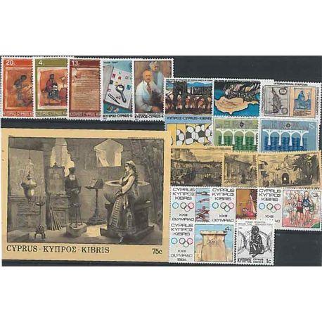 Nuevos sellos Chipre 1984 en Año Completo