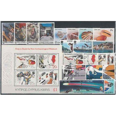 Nuevos sellos Chipre 1986 en Año Completo