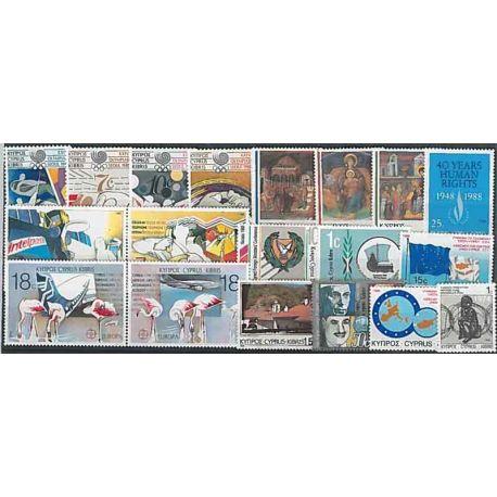 Nuevos sellos Chipre 1988 en Año Completo