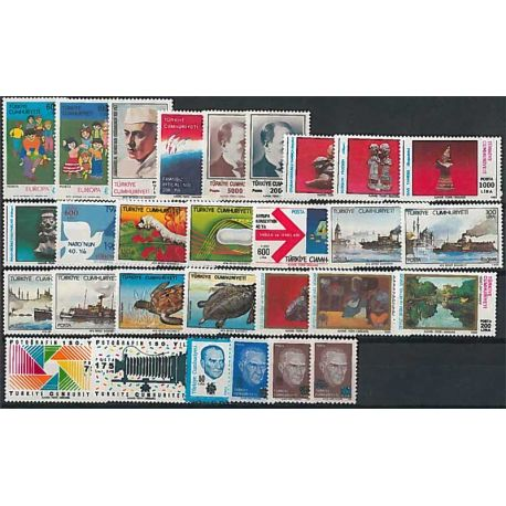 Timbres Neufs Turquie 1989 en Année Complète