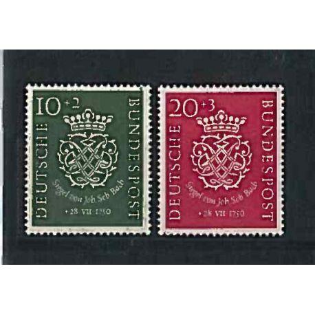 La República Federal de Alemania 1953 Año completo en nuevos sellos