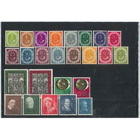 République Fédérale d'Allemagne 1951 Année complète en timbres neufs
