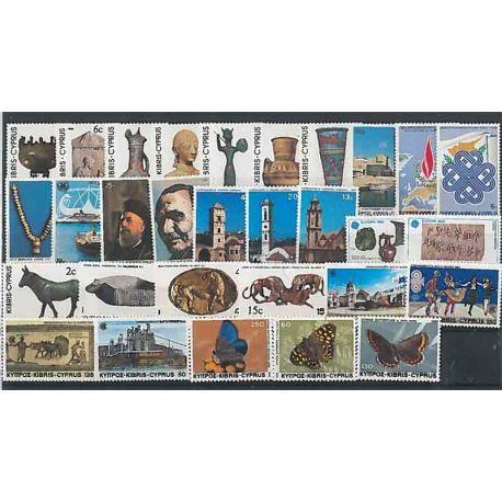 Cipro anno 1983 completa in francobolli nuovi