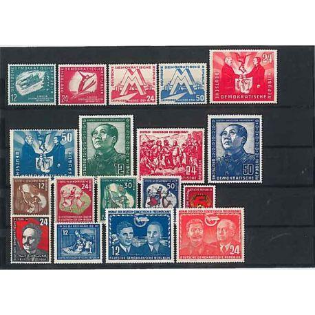 Die DDR 1954 vollständiges Jahr in neuen Stempeln