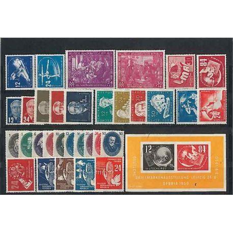 RDA 1950 Année complète en timbres neufs