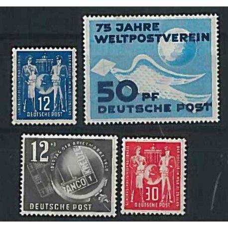 Die DDR 1952 vollständiges Jahr in neuen Stempeln