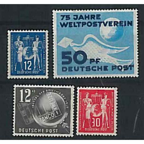 GDR 1952 Year supplements in new stamps