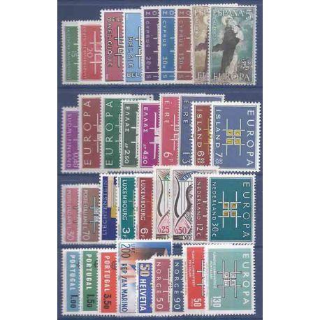 Nuevos sellos Europa 1963 en Año Completo