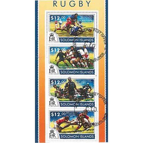 Bloc de 4 timbres Thème Rugby