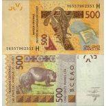 Banknote West Africa collection - PK N° 619H - 500 Francs