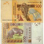 Biglietto di banca raccolta Africa dell'ovest - PK N° 619H - 500 franchi