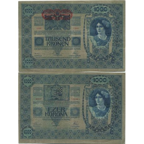 Billet de banque collection Autriche - PK N° 59 - 1000 Kronen