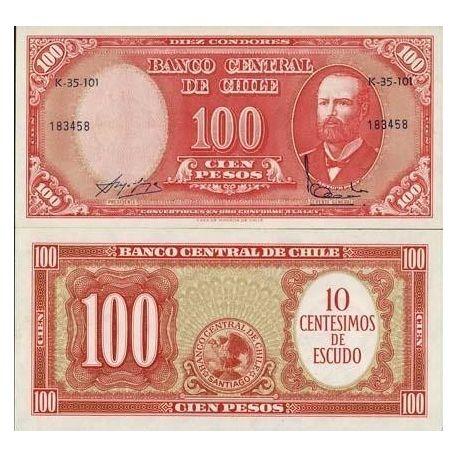 Billet de collection Chili Pk N° 127 - 100 Pesos