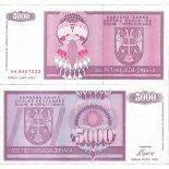 Billet de banque collection Bosnie - PK N° 138 - 5000 Dinara