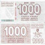 Billet de banque collection Bosnie - PK N° 9 - 1000 Dinara