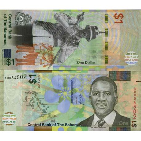Billet de banque collection Bahamas - PK N° 999 - 1 Dollars