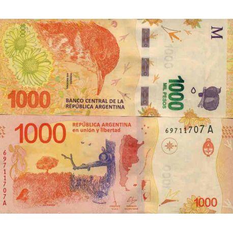 Billet de banque collection Argentine - PK N° 999 - 1000 Pesos