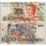 Billet de banque collection Bresil - PK N° 224 - 100 Cruzeiros