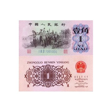 Billet de banque collection Chine - PK N° 877B - 1 Jiao