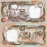 Banknote Colombia collection - PK N° 439 - 2000 Pesos