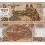 Billet de banque collection Coree Nord - PK N° 999 - 5000 Won