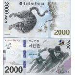 Billet de banque collection Coree Sud - PK N° 999 - 2000 WON