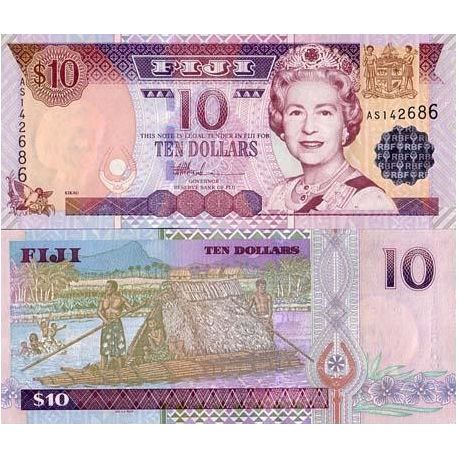Billet de banque collection Fidji - PK N° 98 - 10 Dollars