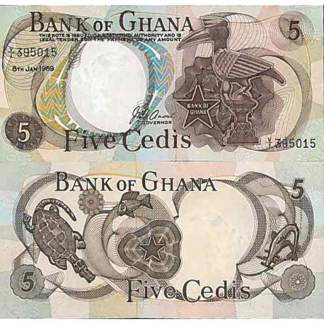 Billet de banque collection Ghana - PK N° 11 - 5 Cedis