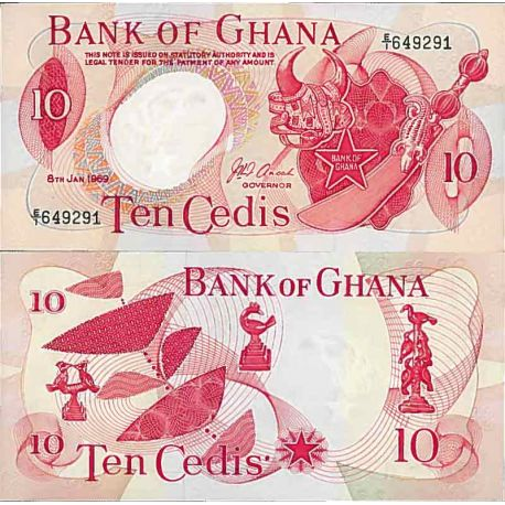 Billet de banque collection Ghana - PK N° 12 - 10 Cedis
