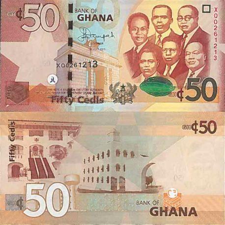 Billet de banque collection Ghana - PK N° 42 - 50 Cedis