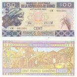Billete de banco colección Guinea Francesa - PK N° 47 - 100 Francos