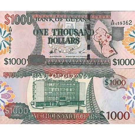 Billet de banque collection Guyane - PK N° 38 - 1000 Dollars