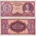 Banknote Hungary collection - PK N° 125 - 1 Billion Pengo
